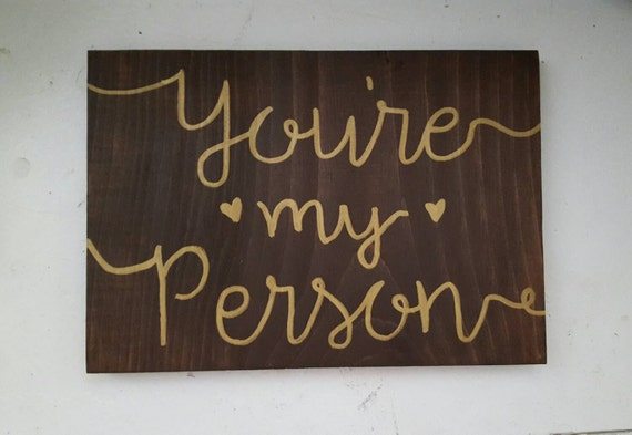 You're My Person Sign, Wooden Decor, I Love You Sign, Wedding Sign, Love Sign, Wooden Sign