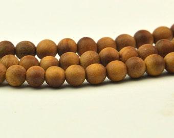 108PC Indian Sandalwood Barbie Aromatic Sandalwood  Prayer Mala  round beads