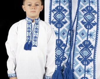Сhildren's embroidered Ukrainian shirt, sorochka (vishyvanka) for a boy :2-12 years