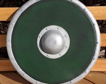 Foam Shield - Premium Green Plastidipped Belegarth, Dagorhir, Amtgard, Medieval Combat games, and LARPs