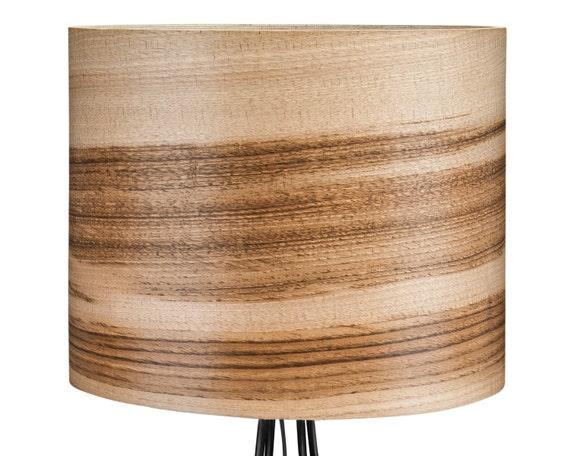 wooden floor lamp natural wood lamps veneer by sponndesign on etsy. Black Bedroom Furniture Sets. Home Design Ideas