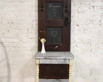 Painted Cottage Prairie Chic Chippy Hand Made Farmhouse Entryway Hall Tree