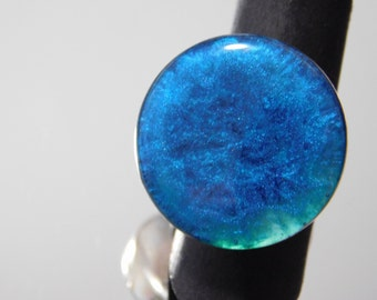 blue resin ring