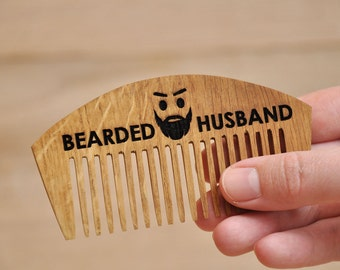 Personalized Beard Comb, Bearded Husband, Wooden Comb, Pocket Comb, Personalized Wood Comb. Men Comb, Custom comb, hairbrush, hipster gift