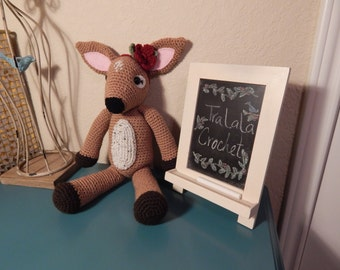 Crochet fawn stuffed animal-Fernie the Fawn