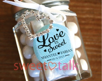 Personalised Wedding Favour Bomboniere - Chocolates Candy Jar