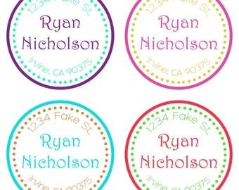 Return address labels-address labels -address stickers - return address stickers-stickers-labels-custom return address stickers-round label