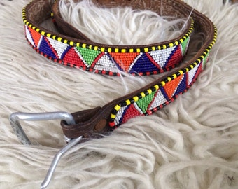 Hand Made Beaded Belt