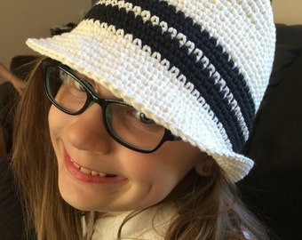 Crocheted Cotton Hat
