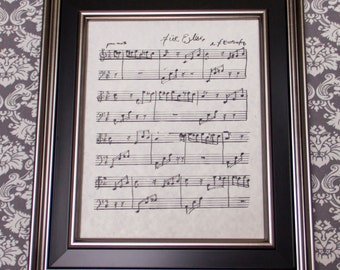Fur Elise by L. V. Beethoven Handwritten Sheet Music: Classical
