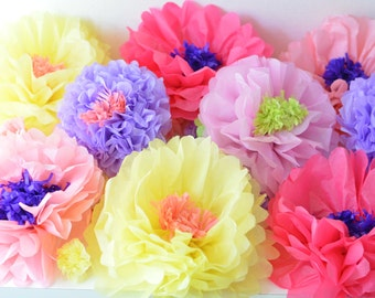 Set of 10 Paper Flowers