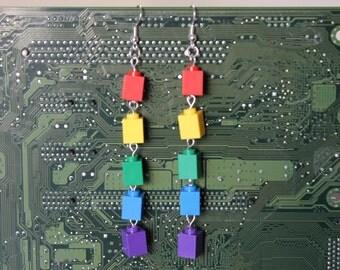 Building Block Earrings - Rainbow