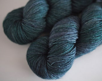BFL sock hand dyed yarn Into The Abyss