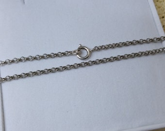 835 silver anchor chain length approx 42 cm HK206