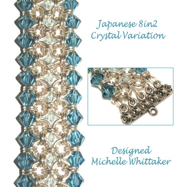 Basket Weave Chainmaille Tutorial : Japanese in embellished crystal weave chain maille