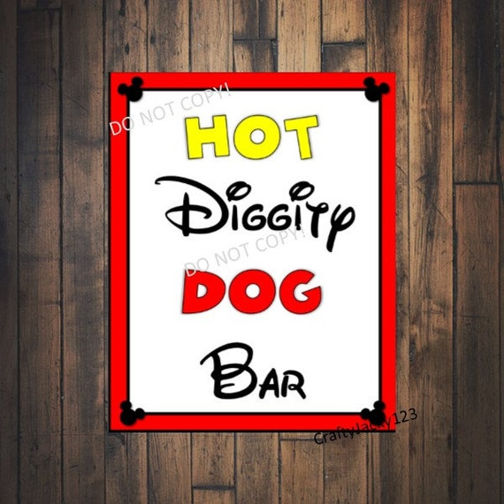 Insane image intended for hot diggity dog bar free printable