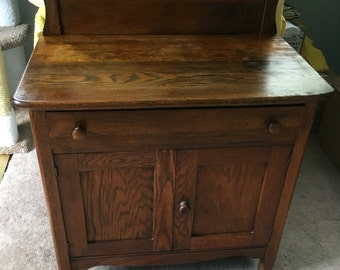 Vintage Oak Nightstand/Wash Table - Local Pickup Only!