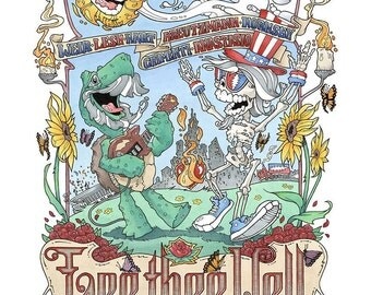 Grateful Dead Fare Thee Well Concert Poster (Open Edition)