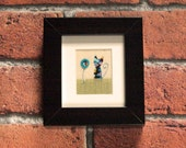 Handmade cat picture, Cat lovers gift, Small Framed Fabric Cat Picture, Stitched Cat, Swifty Bell Designs