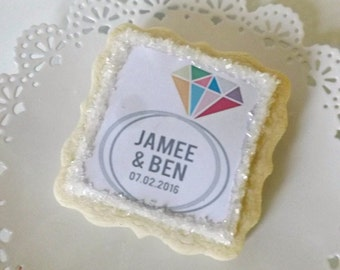 Bridal Shower Wedding Cookie Favors-Personalized Sugar Cookies For Your Guest