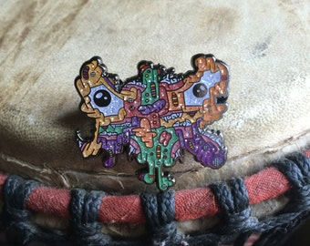 Radioactive frankenfly hat pin-glitter variant hat pin