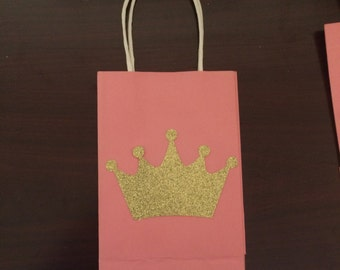 Princess Party Favor Bags- We can do any color or theme (10)