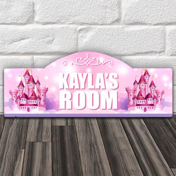 Custom Personalized Kids Wood Wall Room Door Sign Pink Girls