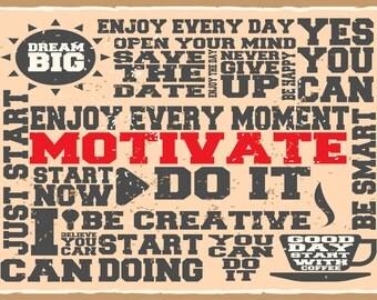 Motivate, Inspirational  Metal Sign,  No.675