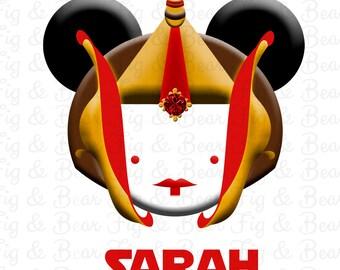 Queen Amidala Disney Mickey Mouse Star Wars Disney Iron On Transfer Personalized Free