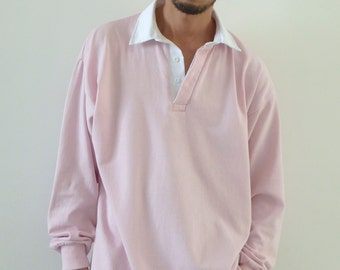 Ultra Baggy Rugby Shirt Pink