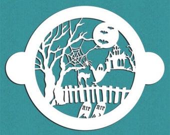 Halloween cake stencil
