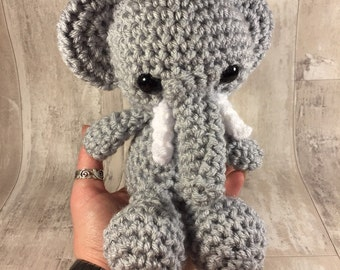Caroline the elephant medium amigurumi