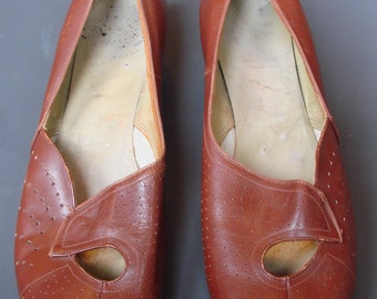 Vintage 1940s/40s WWII Leather SHOES CC41 Utility War Time Re-enactment