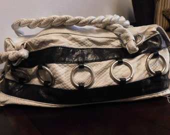 REDUCED PRICING - Purse Jazza Two-Toned Leather Rattlesnake