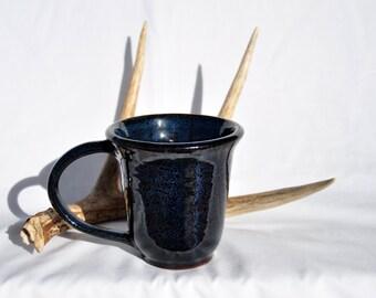 Floating Blue Mug, Handmade Ceramic Mug, North Carolina Pottery