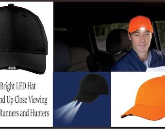 Runners Hat, Flashlight hat, Hunters Hat, Runners Cap, Flashlight Cap, Hunters Cap, LED Hat, Hat with LED Lights - RH01