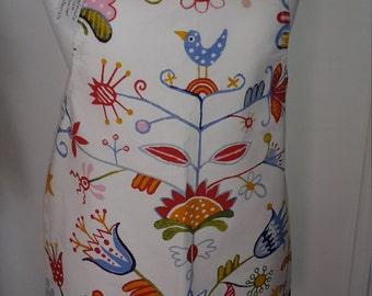 Childrens Handmade Apron with Birds & Flowers detail, Child, Kids