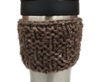 Coffee Sleeve - Coffee Mug Sweater - Tweed Basketweave Mug Cozy - Coffee Mug Warmer - Coffee Cup Holder - Coffee Sweater - Stocking Stuffer