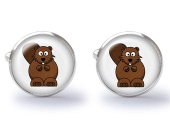 Beaver Cufflinks - Beavers Cuff Links (Pair) Lifetime Guarantee