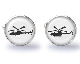 Helicopter Cufflinks (Pair) Lifetime Guarentee