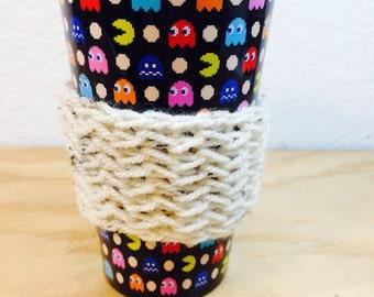 Aran Flecked Knit Coffee Sleeve