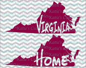Virginia Home Name Deign .SVG/.DXF/.EPS and .png Files for EveryVinyl Cutting Machine