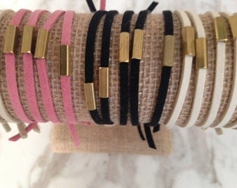 Ease. Stack and layer these ultrasuede bracelets with Ease.  Simple, modern and minimal.