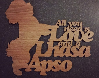 Lhasa Apso Dog Sayings Plaque