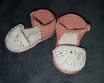 Sandals baby crochet