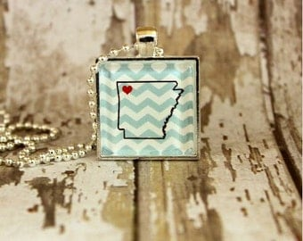 Arkansas Necklace - Heart of Arkansas