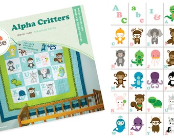 Making Memories Slice Design Card Alpha Critters - Limited Edition - NIB