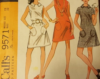 McCall's Pattern 9571 Misses Dresses in Three Versions