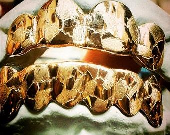 Custom 6 Piece Bottom 10K Rose Gold W/ Nugget Design