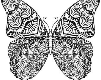 Butterfly Mandala SVG.DXF.EPS